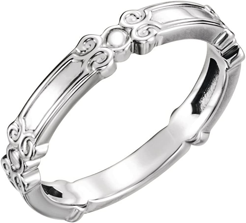 Jewels By Lux 925 Sterling Silver Stackable Ring Size 7