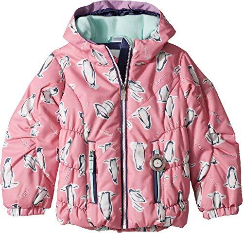 Obermeyer Kids Baby Girl's Cakewalk Jacket (Toddler/Little Kids/Big Kids) Penguins 'N Pink 3T
