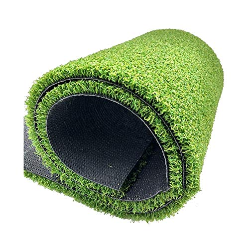 ALGWXQ Artificial Turf Thicken Wear Resistant Easy Care Football Field Run To Roof Fake Grass, 4CM Thick, Green (Color…