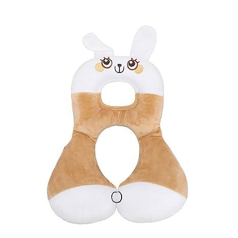 Forma Inchant animal bebé asiento infantil almohada reposacabezas niños pequeños principal suave del soporte para el cuello para Viajes y Cochecito - ...