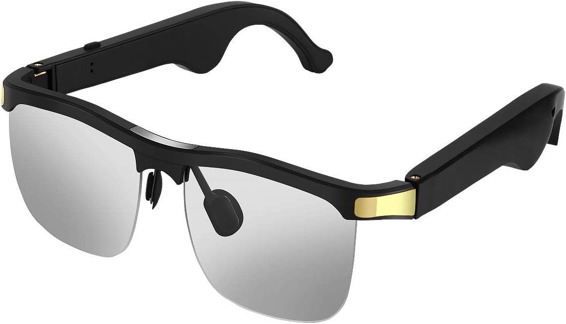 Elikliv Gafas Bluetooth Inalámbrico, Gafas de Sol BT5.0 con Auriculares de Música y Protección contra Radiaciones y Rayos Ultravioletas Compatible con Teléfonos Inteligentes, Tabletas, iOS y Android
