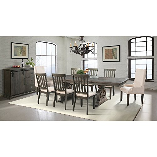 Stanford Dining Table, 6 Side Chairs, 2 Parson Chairs & Server