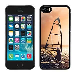 New Pupular And Unique Designed Case For iPhone 5C With Surfing On The Ocean Black Phone Case