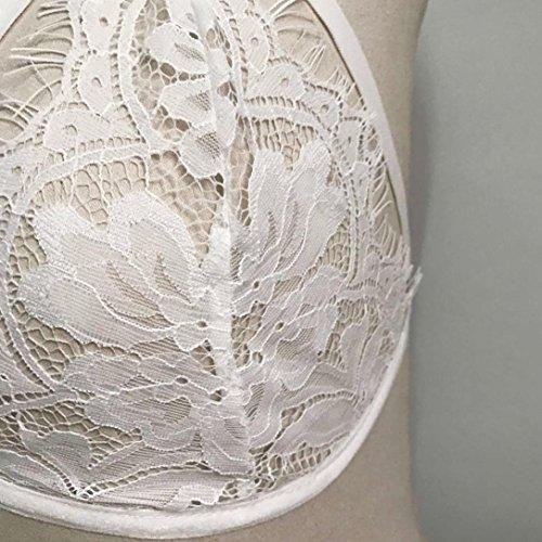 Dreieck Bloße Blumenspitze Weste Oberseite Winwintom Weiß Bralette Ernte Bustier Frauen Büstenhalter-hemd