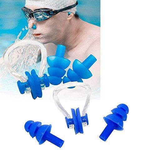 Bouchons Oreilles + Clip nez silicone natation protection humidité eau piscine mer
