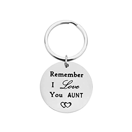Home Gifts for Women Aunt Keychain Gifts, Remember I Love You New Aunt  Gifts from Niece Nephew Key Ring Auntie Sister Gifts Birthday Christmas  Ideas