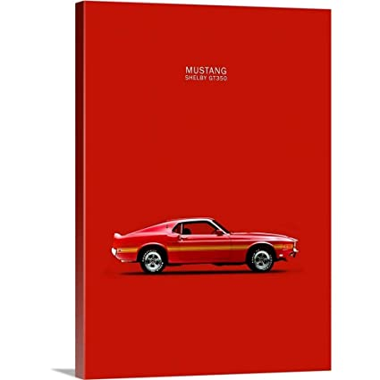 Amazon Gallery Wrapped Canvas Entitled Ford Mustang Shelby