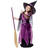 Homebaby - Bambino Strega Costume Abito Tutu + Cappello Outfit Completi Bambini Ragazze Costume Di Halloween Abbigliamento Costume Partito Tuta Regalo