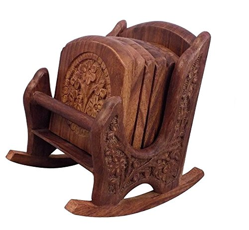 Crafts'man Beautiful Miniature Rocking Chair Shaped Tea Coaster