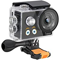 Molie A9 Kids Action Camera 1080P Full HD 2.0 inch LCD Screen Waterproof Camcorder Video Sports Action Camera Cam