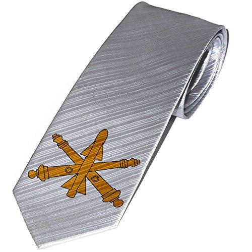 Necktie / Tie with U.S. Army Air Defense Artillery, branch insignia
