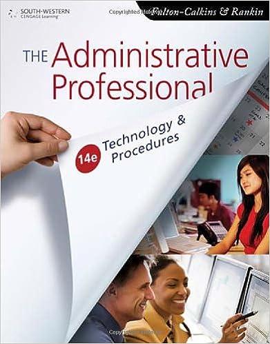 amazon com the administrative professional technology procedures