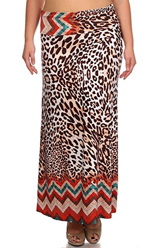 Ani Maxi Made Da large bo line A In Gonne Print Us Plus Donna 3x Sconosciuto BwHnaqxn