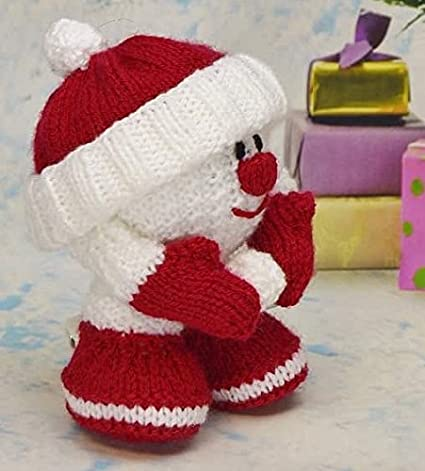Knitting Pattern Snowball Soft Toy From Knitting By Post Amazon Co