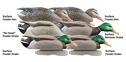 (Greenhead Gear Pro-Grade Duck Decoy,Mallards/Feeder Pack,1/2 Dozen)
