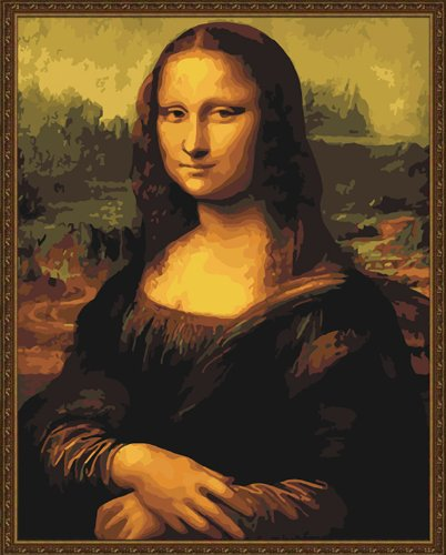 Lisa Smile Mona Painting - ES Art Drawing Your Painting, Paint by Number Famous Painting Mona Lisa Smile by Leonardo Da Vinci 16