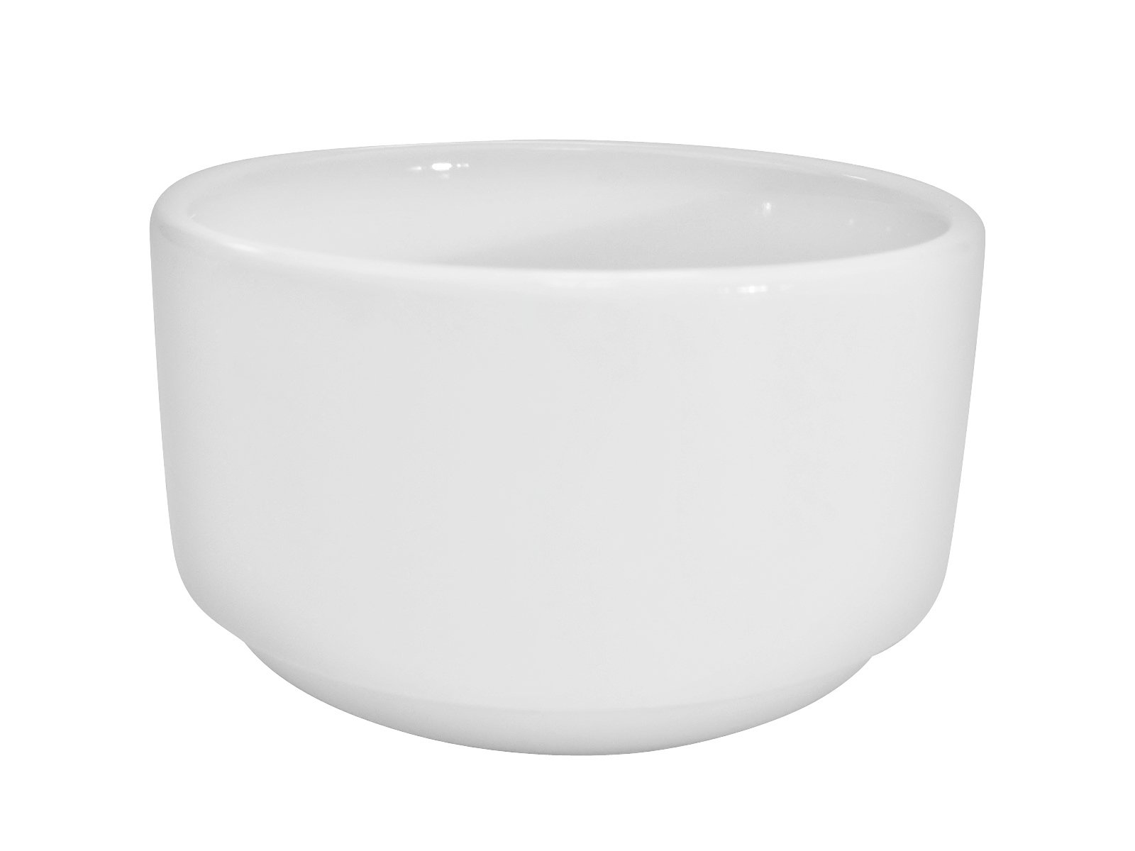 CAC China RCN-48 Clinton Rolled Edge 4-Inch Super White Porcelain Bouillon, 10-Ounce, Box of 36