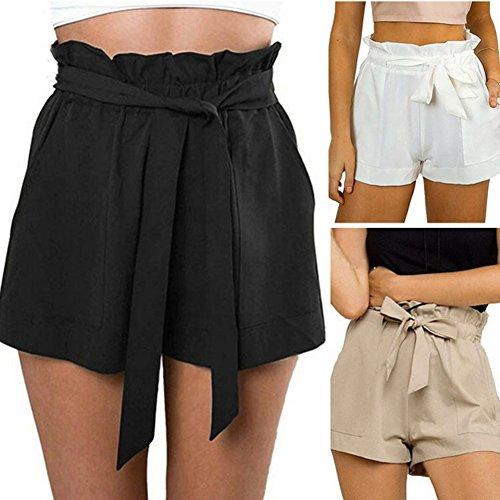 Vita Cintura Con Corti xl Unita Fit Casuale Tinta Comodi Elastica Shorts Media Donna Cachi S Moda Pantaloni Loose tRqHWAw