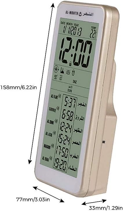Reveils Electroniques Hxzb Musulman Prier Azan Tableau Horloge Numerique Azan Horloge Avec 2000 Villes Athan Temps Et Qibla Pour La Priere Islamique Adhan Horloge Cuisine Maison