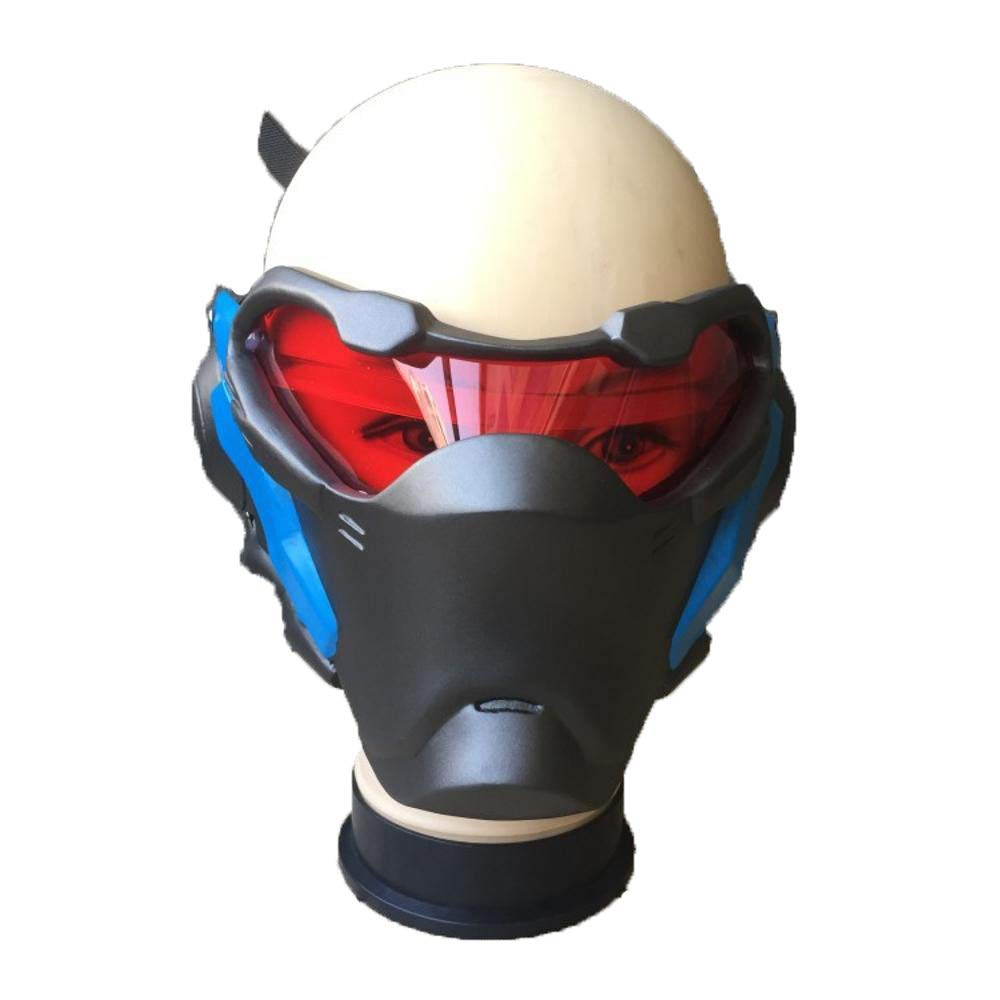 LXIANGP Overwatch OW Soldat 76 Waffe Cosplay Leucht Maske Prop Light-up Halloween Xmas Party