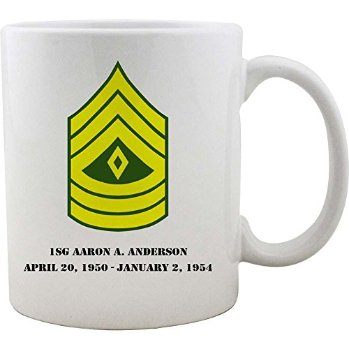 Sergeant Coffee Mug (Army First Sergeant Rank Coffee Mug)