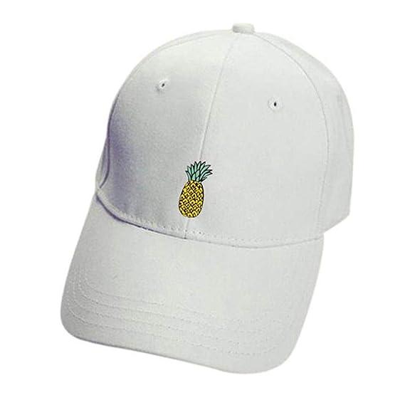 Rovinci Unisexo Sombreros de piña Hip Hop Ajustable Sombrero Puntiagudo  Casual Gorra de Beisbol (Blanco 04c023cf444