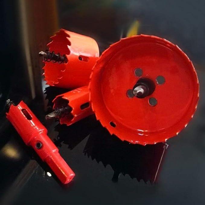 Broca para taladro de acero HSS 12-22 mm, v/ástago reducido, para aluminio, acero, madera, pl/ástico, no ferroso, etc. Blacksmiths MASO negro