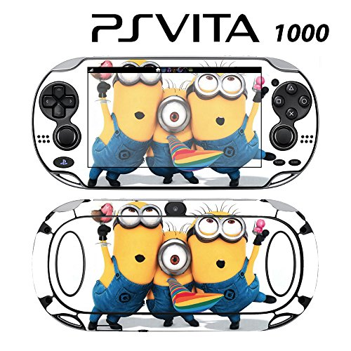 Skin Decal Cover Sticker for Sony PlayStation PS Vita (PCH-1000) - Despicable Me Minions (Despicable Me Game Playstation)