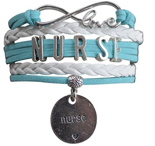 Infinity Collection Nurse Bracelet, Nurse Charm Bracelet Makes Perfect Nurse Gifts]()