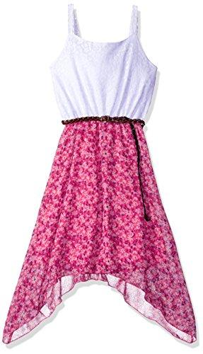 Chiffon Belted Dress - 7