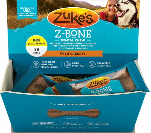 Carrot Bone (Zuke's Z-Bone Dental Chew w/Carrots, Mini 36ct)