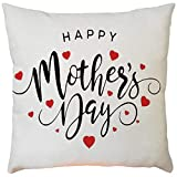 2019 EOWEO Happy Mother's Day Sofa Bed Home Decoration Festival Pillow Case Cushion Cover(43cm×43cm,E)