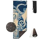 Blue Kraken Nautical,Yoga Towel Exercise Mat Non-Slip High Density Waterproof Yoga Mats Fitness