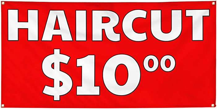 Vinyl Banner Multiple Sizes Barber Shop Open A Advertising Printing Business Outdoor Weatherproof Industrial Yard Signs 10 Grommets 60x144Inches
