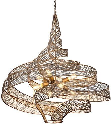 Flow 8-Light Pendant – Hammered Ore Finish