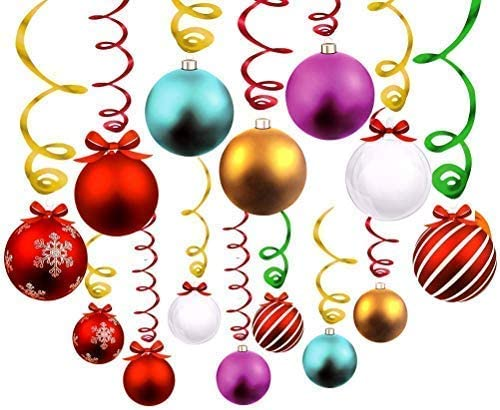 24//36pcs Christmas Tree Balls Hanging Ball Shopping Mall Ceiling Ornament Decor