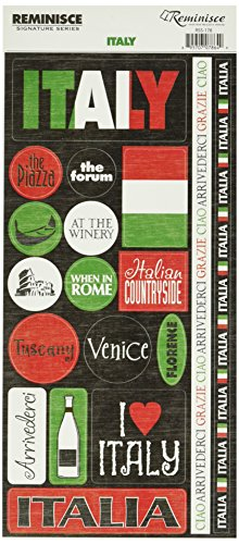 Reminisce Signature Series Travel Stickers-Italy Phrase