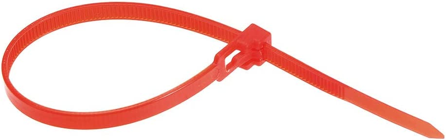 uxcell 40pcs Reusable Cable Ties 9 Inch x 0.2 Inch Adjustable Nylon Zip Ties Wraps Red