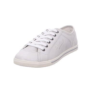 Dockers Coole Mädchen Synthetik Sneakers Silber, Laufsohle