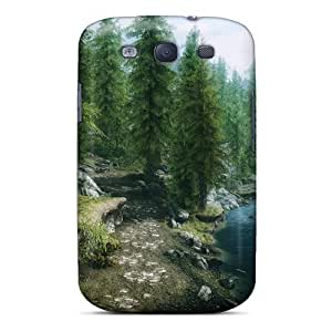 High-quality Durability Cases For Galaxy S3(skyrim Forest)