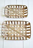 Cheap World Decor Large Rectangular Tobacco Baskets Set of 2