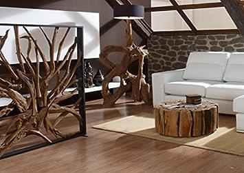 Elegant Möbel Bressmer Design Raumteiler Teak Holz Maze | Hochwertiger Sichtschutz  Spanische Wand Holzoptik Massiv | Paravent
