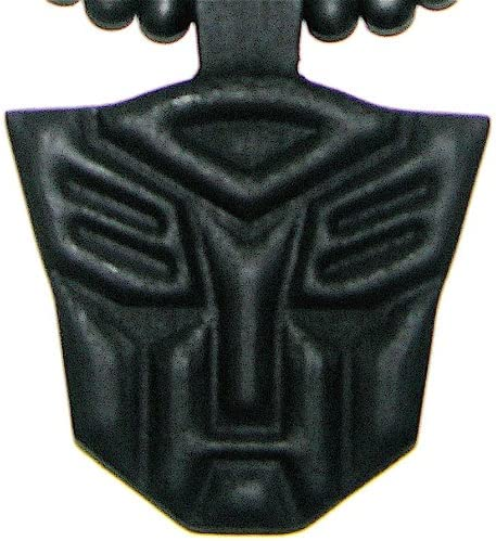 GWOOD Robot Black Color Wood Replica Pendant with 36 Inch Necklace