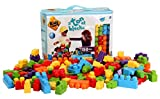Kids at Work a Ton of Blocks Large Building Bag By Amloid I 150 Piece Colorful Assortment & Durable Block Set