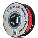 3D Solutech Real Red 1.75mm 3D Printer PLA Filament 2.2 LBS (1.0KG)