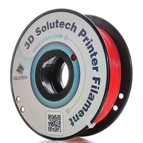 3D Solutech Real Red 3D Printer PLA Filament 1.75MM, Dimensional Accuracy +/- 0.03 mm, 2.2 LBS (1.0KG) - 100% USA by 3D Solutech