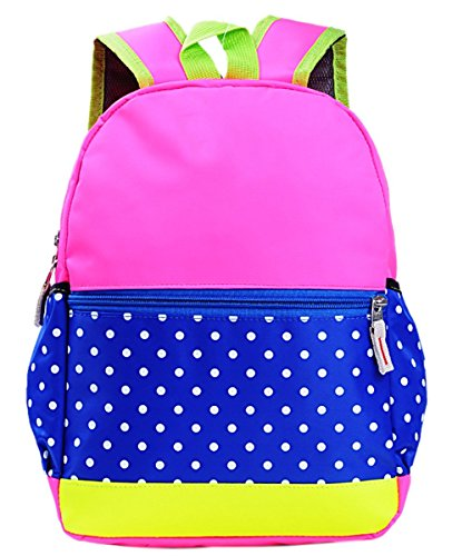 Happy Cherry Kids Girls Kindergarten School Bag Bookbag Backpack Dot -Rose (School Dot)