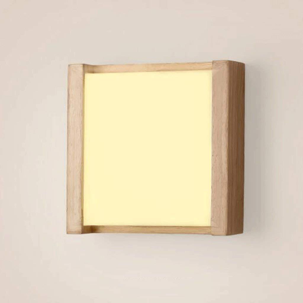 FXING Massivholz Wandleuchte Gang leuchtet Warm Nachttischlampen Holz Schlafzimmer Schlafzimmer Wand Beleuchtung Master Design Holz Lampe Schatten Höher Permeabilität Material 9 W 14 W (Farbe  weiß,