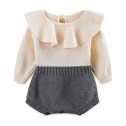 0472aaea2e6 Mud Kingdom Baby Girl Sweater Cotton Bodysuit Cute 18 Months Grey