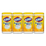 Clorox Disinfecting Wipes, Citrus Blend, 75 Wet Wipes - 4 Packs